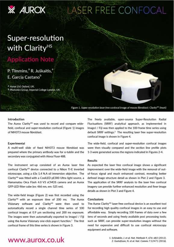 Super Resolution with ClarityHS