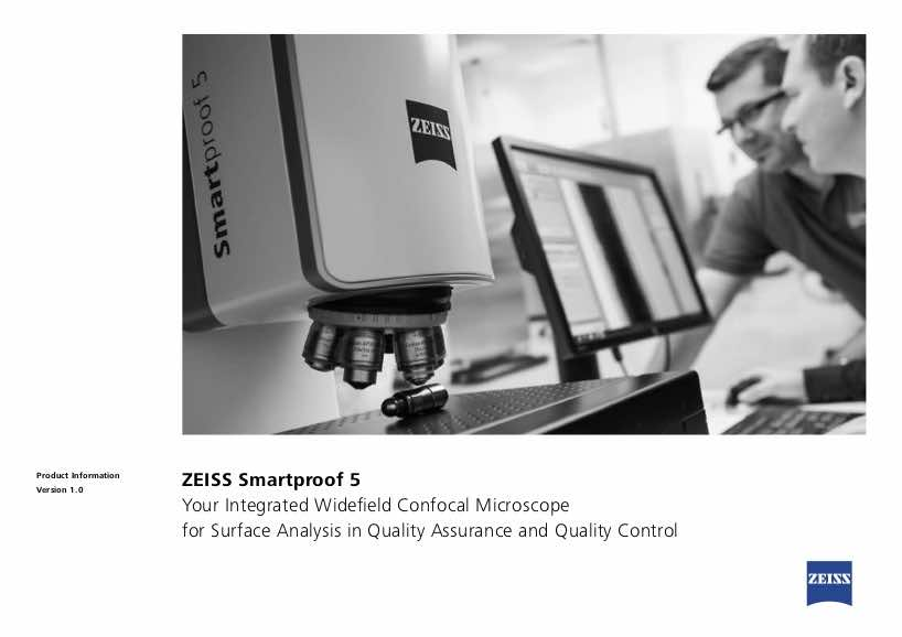 Zeiss Smartproof 5 widefield confocal microscope